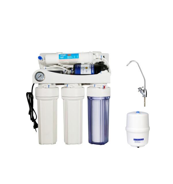 反渗透纯水机-KK-RO50G-Z(5阶段压力表)