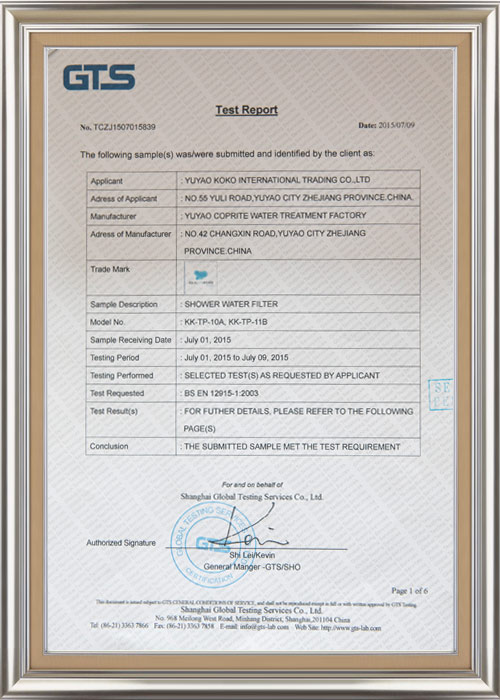 证书-GTS